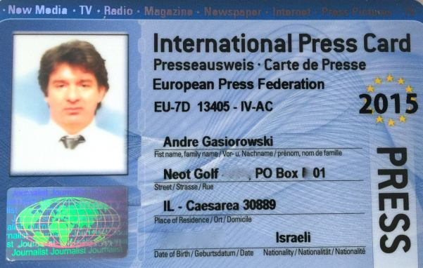 press card eu