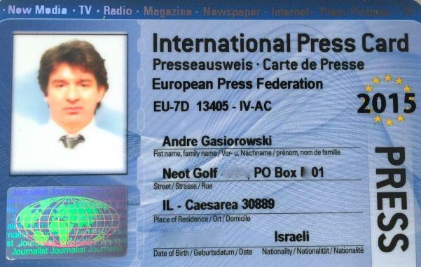 press card eu