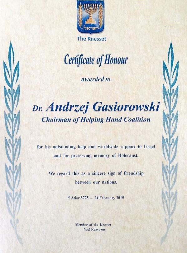 Knesset Andrzej Gasiorowski