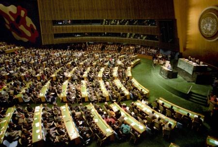Выступление Михаила Горбачева на сессии Генеральной ассамблеи ООН